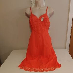 NWT vintage 60s vanity fair orange slip
